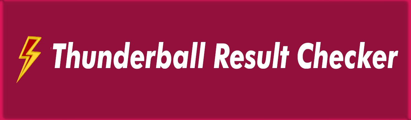 Thunderball Result Checker
