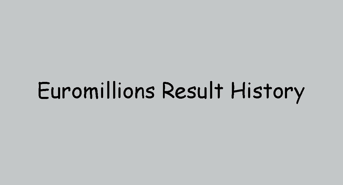Euromillions Result History